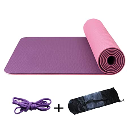 YOGA MAT - Colchoneta de Yoga, Color Profundo Morado: Amazon ...