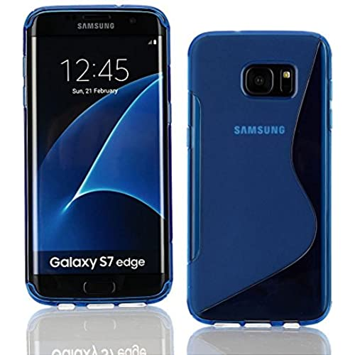 DWaybox Galaxy S7 Edge Case S Line Design Slim Fit Rubber Protective Shell Soft TPU Gel Phone Back Cover Case Sales