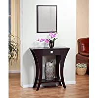 Brown Wood Entry Table with Drawer and Shelf Great Sofa Accent Piece Cappuccino Finish