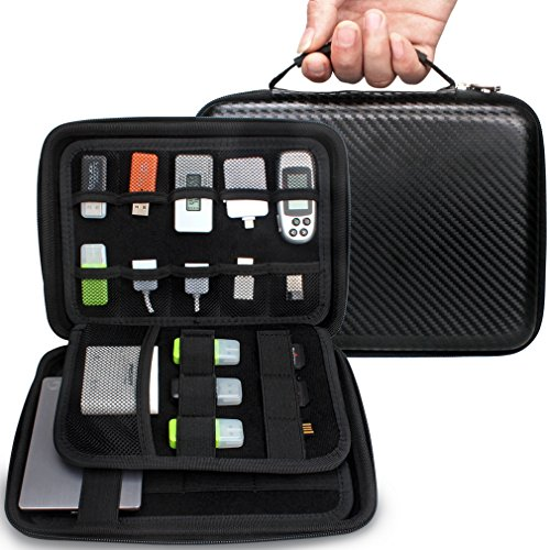 Aprince Digital Gadget Case,Designed For External Hard Drive,USB Flash Drives,Power Banks - Best for Traveling (New Model w/ Upgraded Sized - Black)