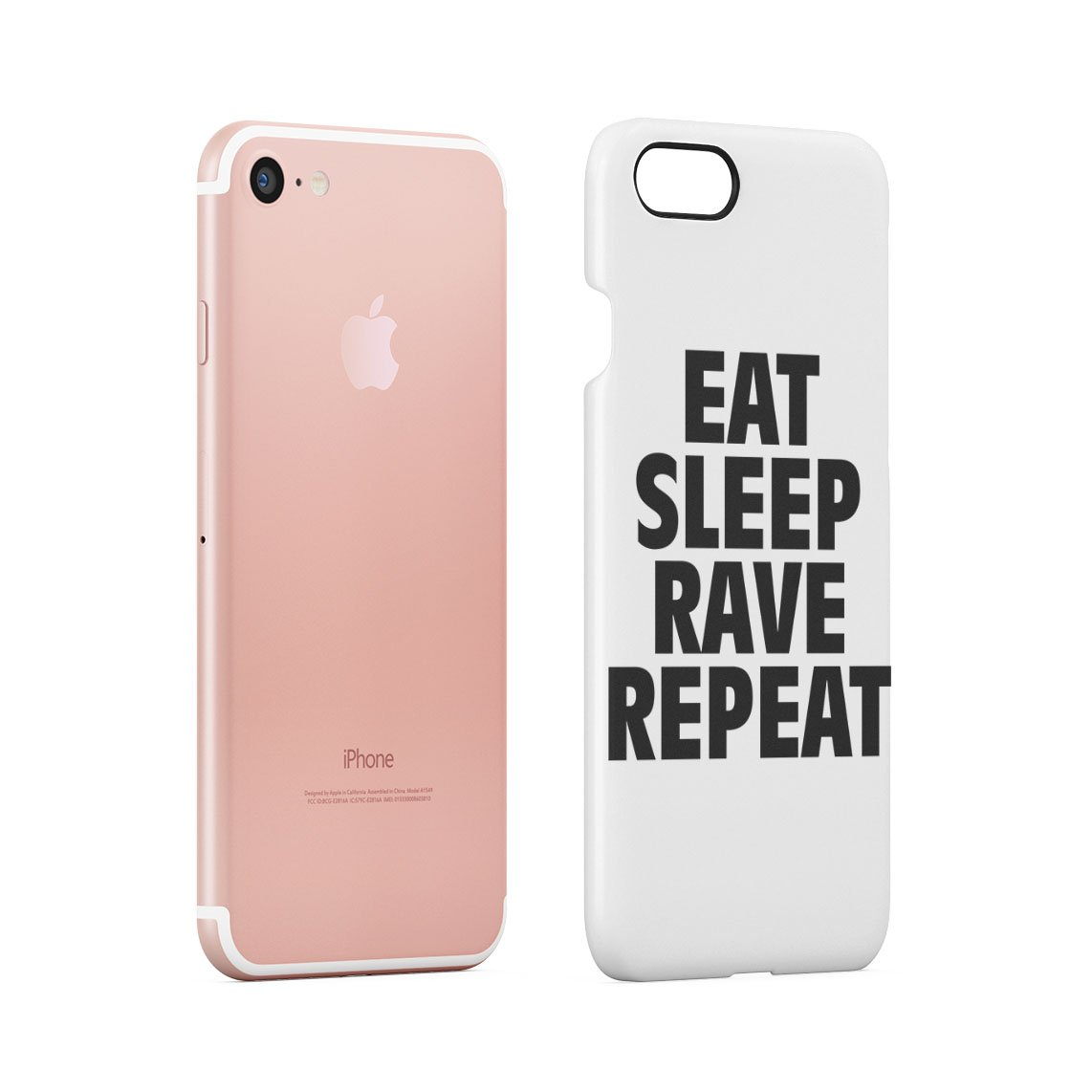 Eat Sleep Rave Repeat Funny Quote Hard Thin Plastic Phone Case Cover For iPhone  7 & iPhone 8: Amazon.es: Electrónica