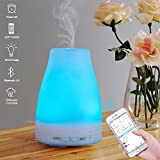 E-Diffuser Smart Aroma Essential Oil Diffuser– Bluetooth App Control Ultrasonic Cool Mist Humidifier with Timer Function and 7 Color LED Lights Changing, Perfect for Home Office Baby Room Yoga SPA