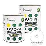 Smartbuy 200-disc 4.7gb/120min 16x DVD-R White Top Blank Data Recordable Media Disc