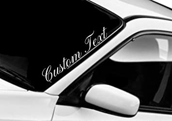 Amazoncom Custom Text Sticker Windshield Decal Window Car JDM - Window decals amazon