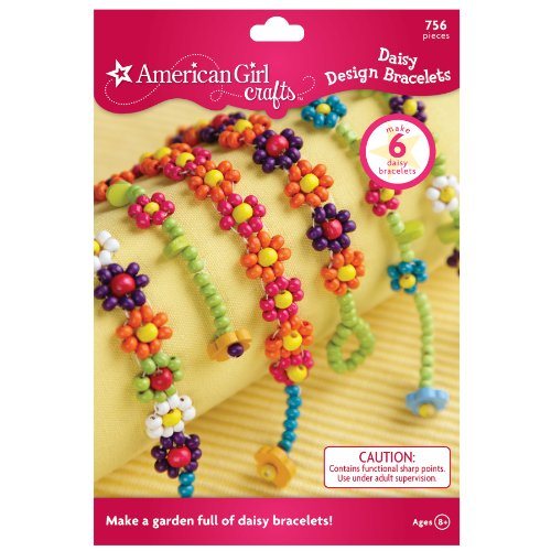 American Girl Crafts Daisy Flower DIY Bracelet Making Kit for Girls, 774pc