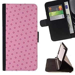 BullDog Case - FOR/Samsung Galaxy S3 Mini I8190Samsung Galaxy S3 Mini I8190 / - / polka dot pink red vintage wallpaper /- Monedero de cuero de la PU Llevar cubierta de la caja con el ID Credit Card Slots Flip funda de cuer