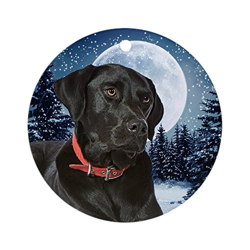 (CafePress Winter Black Lab Ornament Round Holiday Christmas Ornament)