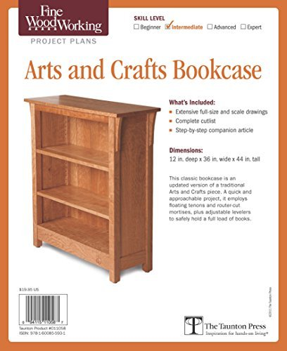 - Fine Woodworking's Arts and Crafts Bookcase Plan by Editors of Fine Woodworking (2011-10-04)