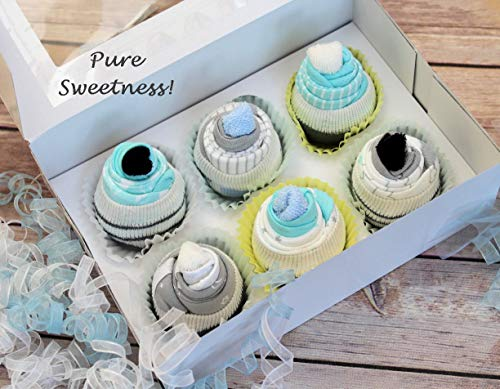 Unique Baby Shower Cakes - New ~ Onesie Outfit Cupcakes, Baby Cupcakes, Baby Boy Shower Gift Set, Baby Gift Basket, Baby Shower Gift, Unique Baby Gift