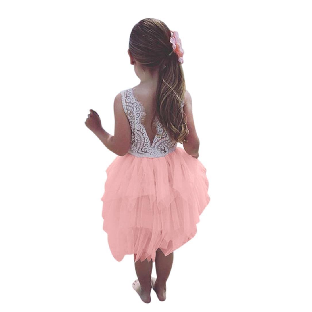 【18%OFF】 Sumenベビー女の子誕生日パーティープリンセスドレスノースリーブOネックレースチュチュドレス 3T 3T ピンク ピンク B07FJ77NQF, よねや:d4980922 --- a0267596.xsph.ru
