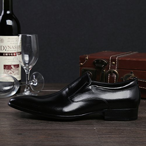 Black Mens Party MEbox New Leather Shoes Slip Design on Oxford zvTvqw