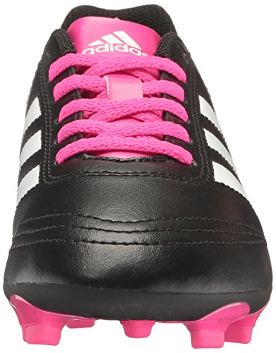Pictures of adidas Kids' Goletto VI J Firm Ground Black/White/Shock Pink 6