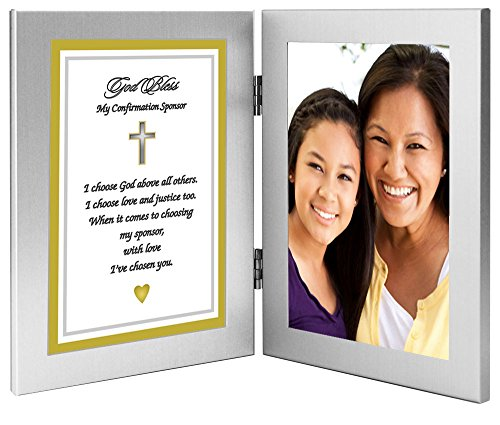 Confirmation Sponsor Gift - Sponsor Thank You Poem in Double Frame - Photo Added After Delivery