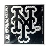 "Stockdale New York Mets 6"" Metallic Magnet Silver Style Vinyl Die Cut Auto Home Baseball"