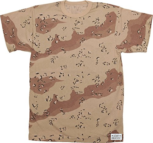 Army Universe Desert Chocolate Chip Camouflage Short Sleeve T-Shirt with Pin - Size Medium ()