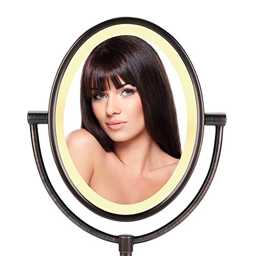 Conair Oval Shaped Double Sided Lighted Makeup Mirror 1x