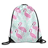 Lake Flamingos Drawstring Bag Backpack Stylish Lightweight Durable Cute Bag For Yoga Sport Travel