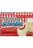 SMUCKERS UNCRUSTABLES FROZEN SANDWICHES PEANUT BUTTER & STRAWBERRY JAM 4 CT PACK OF 3