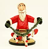 Blue Sky Clayworks Handcrafted Heart of Season Christmas Santa Figurine