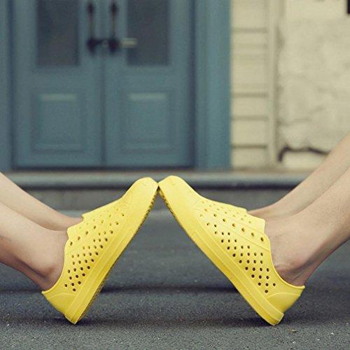Jaune QinMM Pêcheurs Pluies Hommes Glissement Classique Sans Sandale Respirante Couple Plat Unisexe Bas Chaussures Femmes Chaussures x1xYqzZA