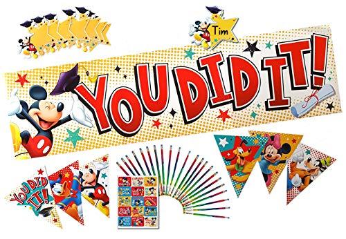Mickey Mouse Preschool Kindergarten Graduation Decoration l Banner l Pennants l Cutouts l Stickers l Pencils