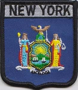 Estados Unidos de América Nueva York Estado bandera bordado parche (A352)