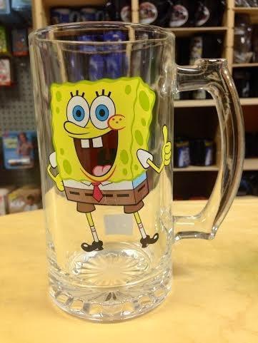 Sponge-bob Beer Mug by Silver Buffalo 817989015983