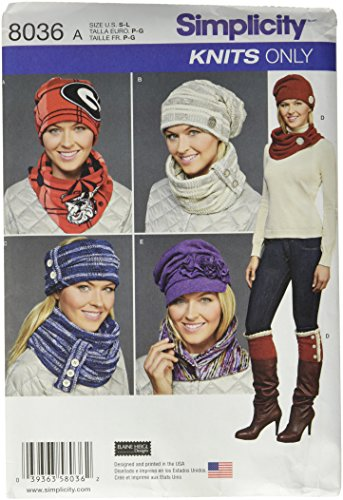 Simplicity Patterns Misses' Cold Weather Accessories Size...
