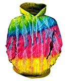 LAIDIPAS Unisex 3D Printing Drawstring Sports Hoodie Lightweight Pullover with Big Pockets for Men and Women XXL