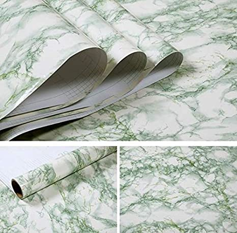 Modern Marble Vinyl Self Adhesive Wallpaper for Bathroom Kitchen Cupboard Table