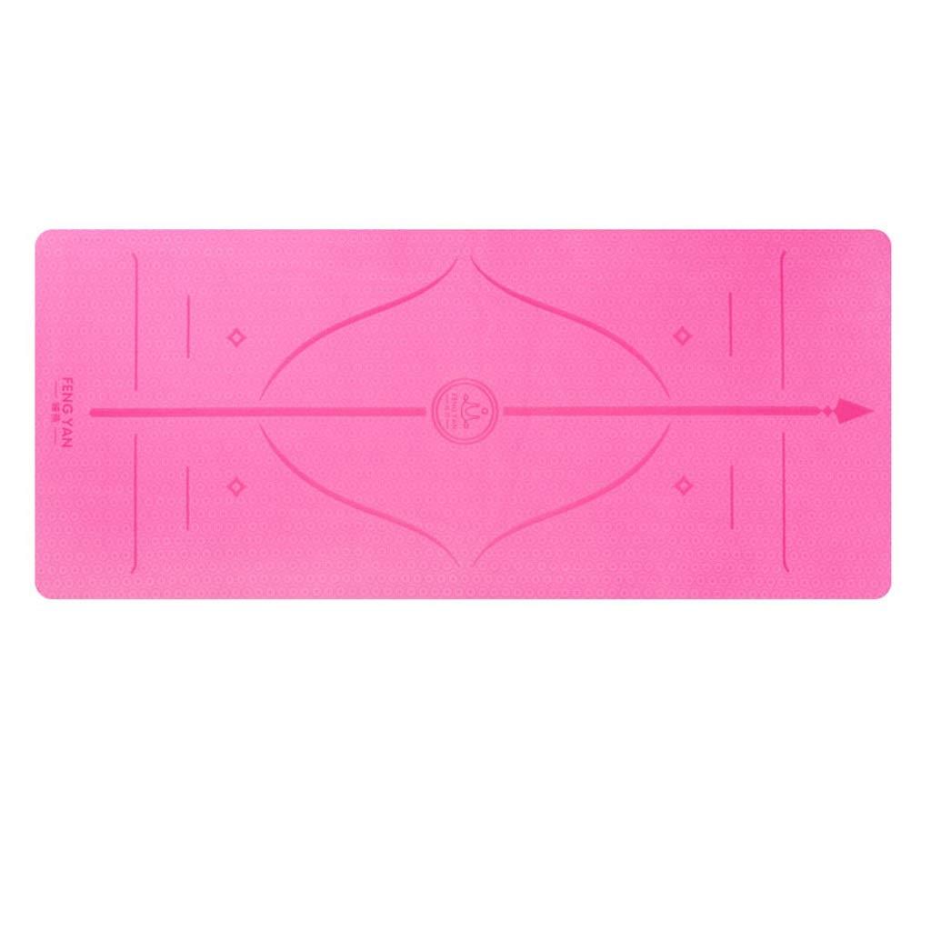 B HBJP Tapis de Yoga TPE Tapis de Yoga allongeant Large Tapis de Yoga 80CM épaississant antidérapant Tapis de Fitness pour débutant Tapis de Yoga (Couleur   B, Taille   8mm) 8mm