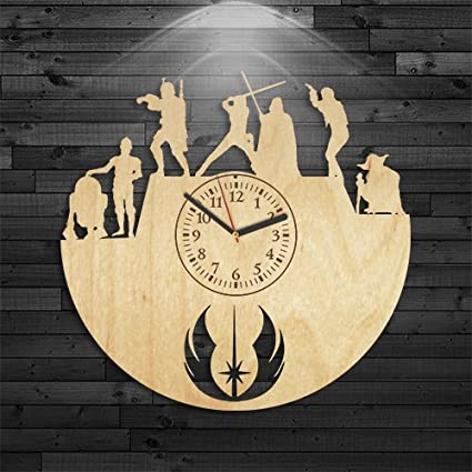 Amazon.com: star wars regalo para marido, reloj de pared ...