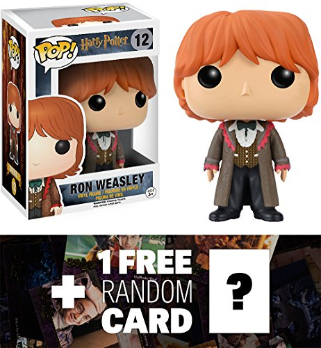 Ron Weasley (Yule Ball): Funko POP! x Harry Potter Vinyl Figure + 1 FREE Official Harry Potter Trading Card Bundle - Harry Potter Ball Yule