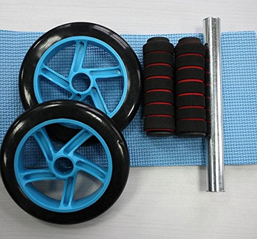 Pro Gym Ab Wheel Roller Brand Dual Abdominal Fitness Workout Exercise Abs Wheels Blue Color