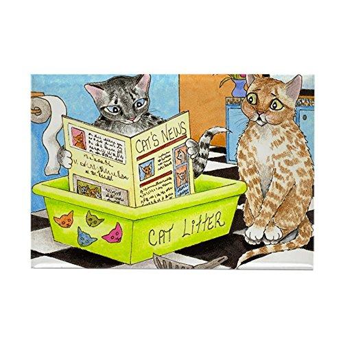 (CafePress Cat 464.Jpg Rectangle Magnet, 2