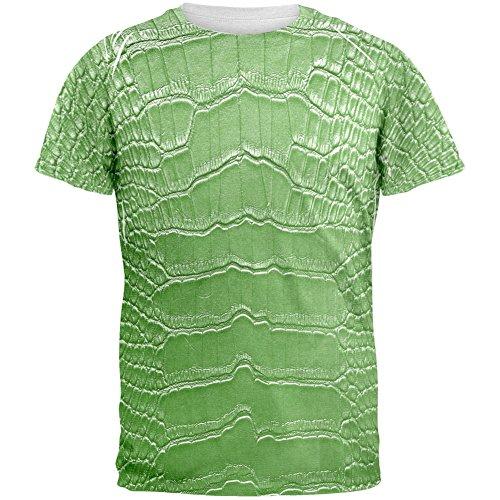 Halloween Alligator Costume All Over Adult T-Shirt - X-Large - Adult Alligator Costumes