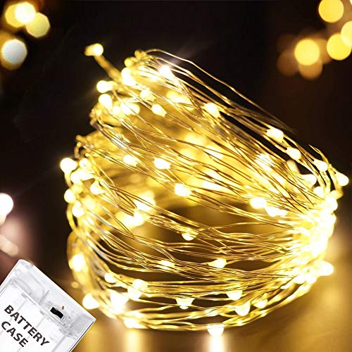 Citra Battery Operated Sliver String Light 3M 30 LED Decorative String Fairy Lights Warm White