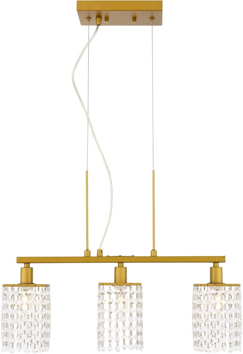 Living District Taylor 3 Light Brass Pendant