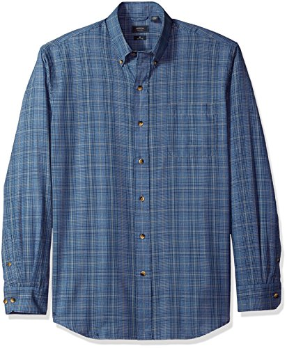 Arrow Men's Long Sleeve Heritage Twill Shirt, Allure, - Dress Arrow