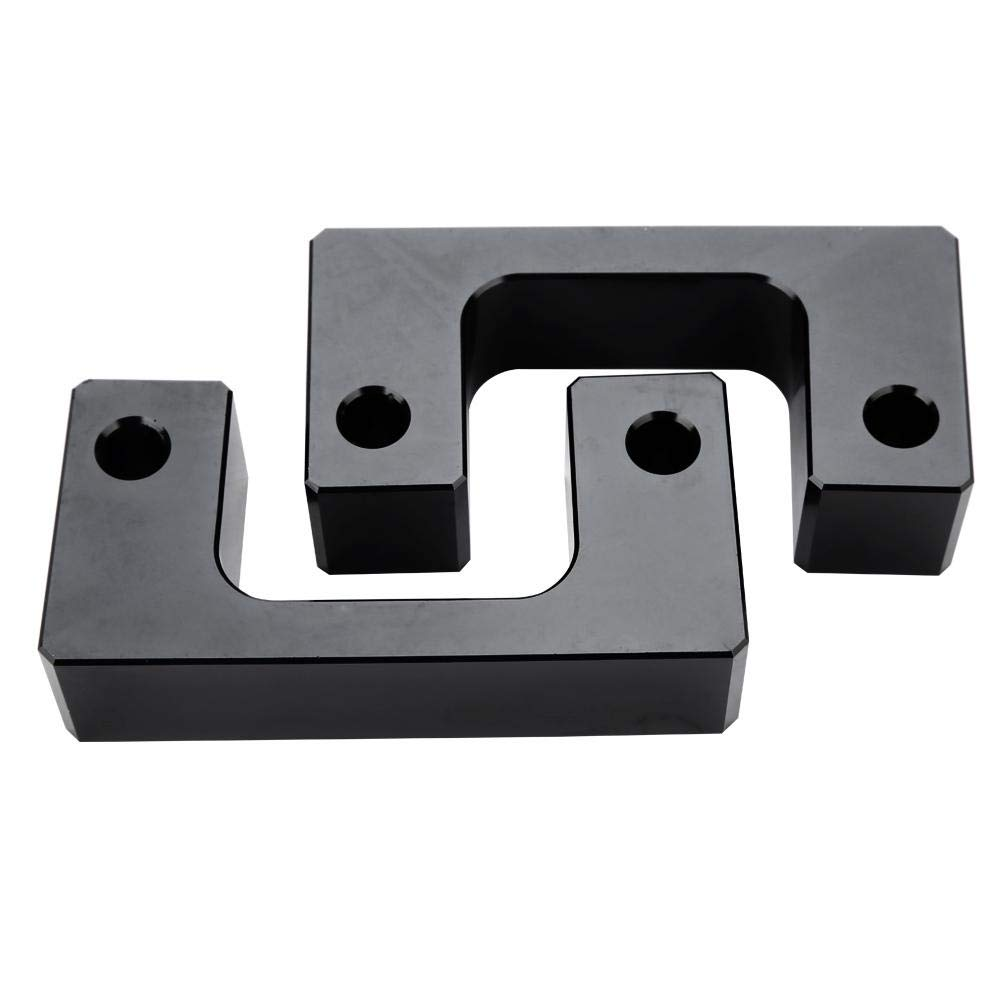 2inch Acouto Front Coil Spring Spacer Leveling Lift Kit for Chevy Silverado 2007-2018 GMC Sierra GM 1500 LM black