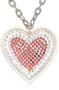 "TARINA TARANTINO Large Pave Heart Necklace, 16"""