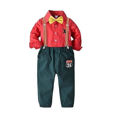 Conjunto de Traje navideño para niño Camisa de Manga Larga ...