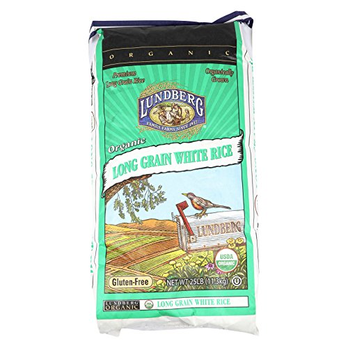 Lundberg Family Farms Organic White Long Grain Rice - Case of 25 - 1 lb. by Lundberg