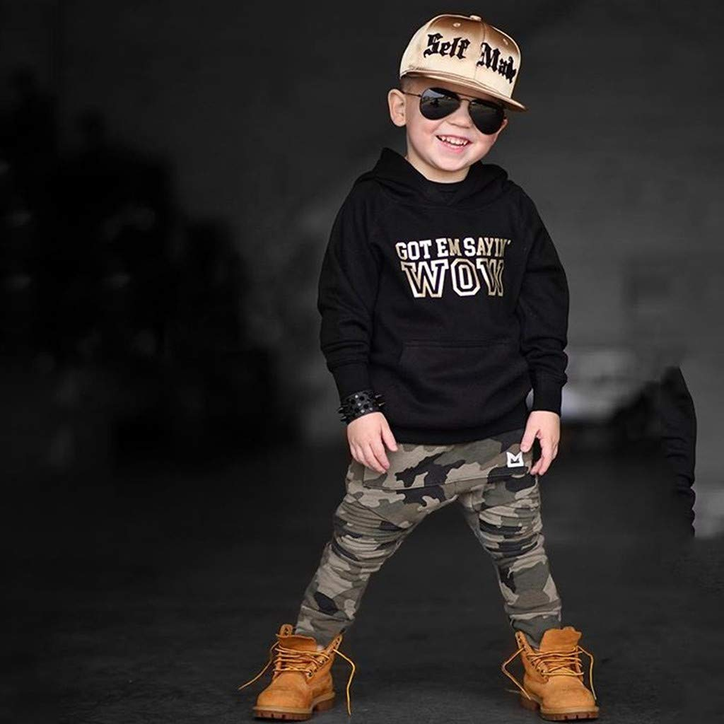 Amazon.com: Iuhan Outfit Set Baby Boy Autumn Winter Long Sleeve ...