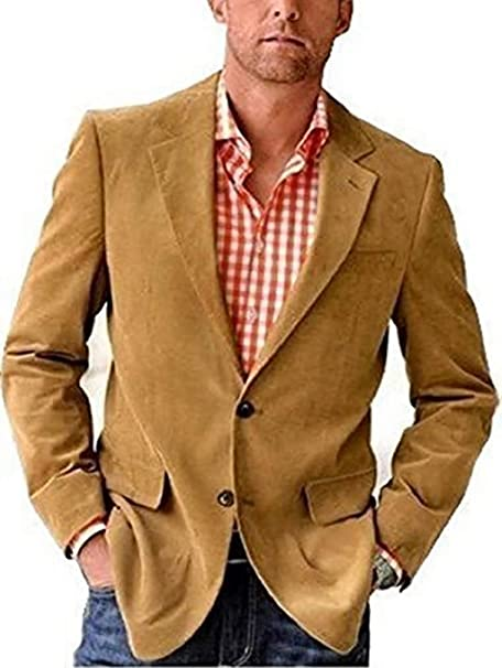 Chaqueta de pana chaqueta de Castellani en caqui - algodón ...