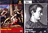The History Channel : Roman Vice , Biography Caligula - Roman Decadence 2 Pack