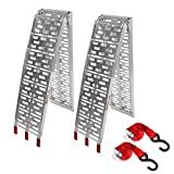 2Pcs 7.5' Pair Aluminum Folding Loading Ramps Pickup Truck Trailer Motorcycle ATV UTV Lawnmower,1500lb Capacity