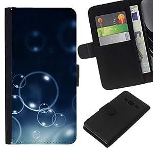 JackGot ( Burbujas Bokeh ) Samsung Galaxy A3 la tarjeta de Crédito Slots PU Funda de cuero Monedero caso cubierta de piel