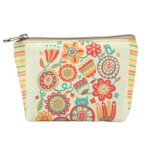 Handbag Flower Wallet Purse Women Purses Zipper Wallet Iron Small Cartoon Ladies Butterfly Coin Canvas wgqZUZ