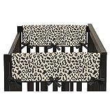 Animal Safari Collection Leopard Print Side Crib Rail Guard Covers (Set of 2)